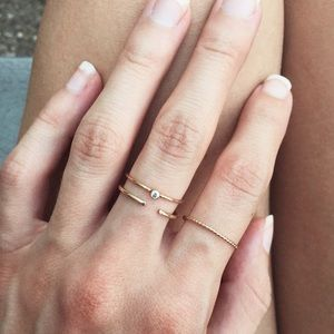Minimalist Stacking Ring Solid 14k Gold
